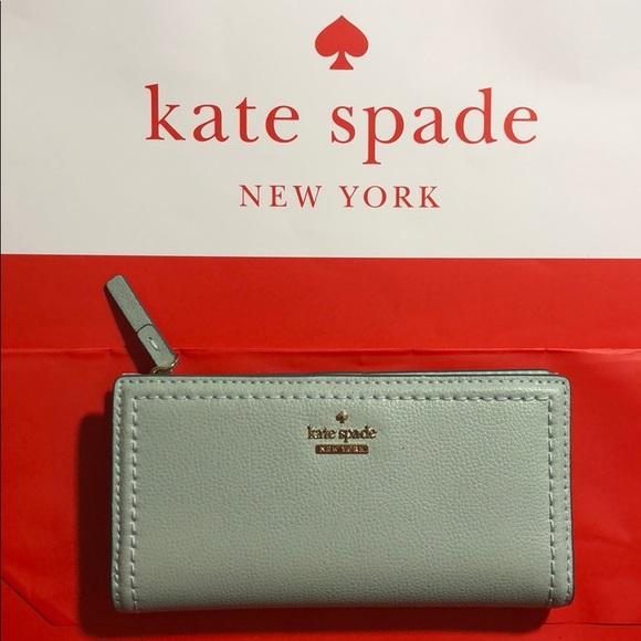 kate spade Handbags - Kate Spade Misty Mint Wallet